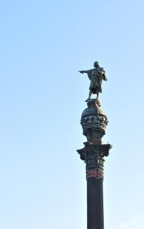 descubridor: Barcelona, ??España - 6 de julio de 2012: Monumento a Cristóbal Colón en Barcelona, ??España