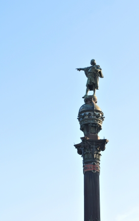 Barcelona, Spain - 6 July, 2012: Christopher Columbus monument in Barcelona, Spain