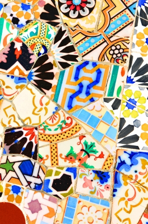 spanish tile: Mosaic  Stock Photo