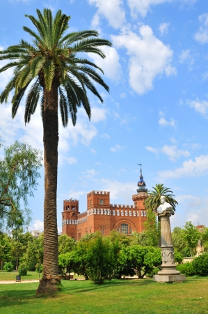 tres: Barcelona, Spain - 06 July, 2012: Architectural view of the Castle of the Three Dragons (Castell dels Tres Dragons) in the Parc de la Ciutadella Editorial