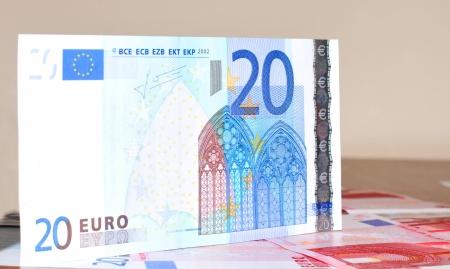 20 euro: Euro banknotes  Stock Photo