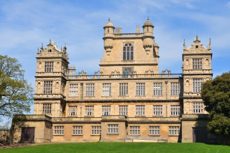 great hall: Architecture of beautiful English castle in Wollaton, Nottinghamshire Editorial