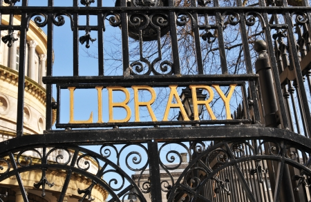 Library sign  photo