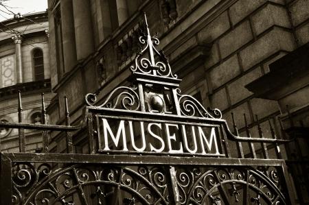 Museum sign