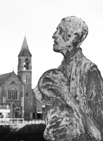 Famine statues in Dublin, Ireland