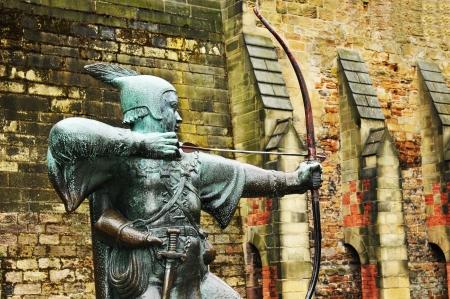 ノッティンガム、イギリスのロビン ・ フッド像 写真素材