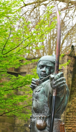 Robin Hood statue in Nottingham, UK  photo