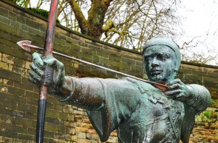 Robin Hood statue in Nottingham, UK  Stock Photo - 22361432