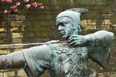 Robin Hood statue in Nottingham, UK  photo