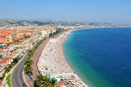Widok z lotu ptaka Nicea, Francja Zdjęcie Seryjne