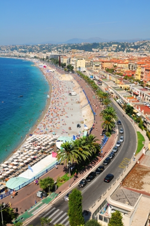 nice weather: Promenade des Anglais in Nice, France