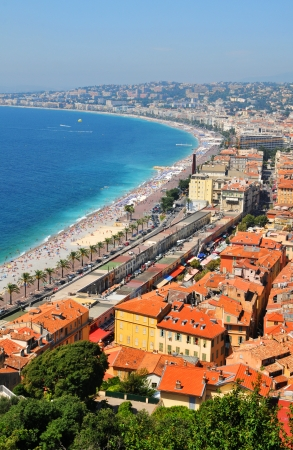 Aerial view of French Riviera in Nice, France