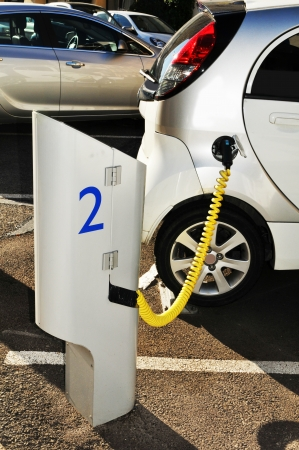 electric station: Electric car