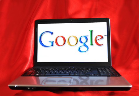 illustrative: LONDON, UK - SEPTEMBER 3, 2010: Google search concept with logo on laptop screen (illustrative editorial)