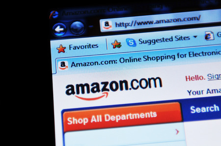 illustrative: LONDON, UK - FEBRUARY 3, 2011: Close up of Amazon online shopping website home page (illustrative editorial)