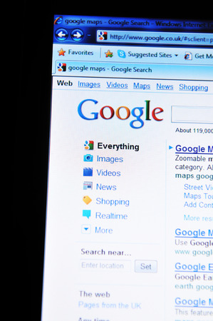 LONDON, UK - FEBRUARY 6, 2011: Close up of Google Translate home screen on Internet Editorial