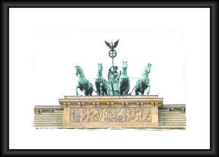 brandenburg: Architectural detail of the Brandenburg Gate in Berlin, Germany