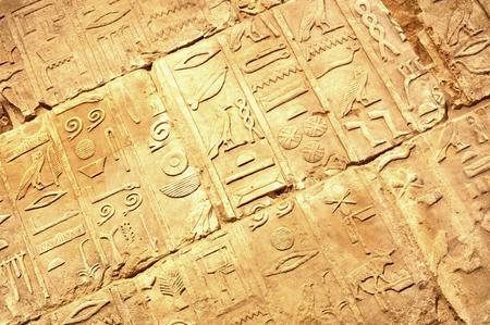 hieroglyphs: Egyptian hieroglyphs