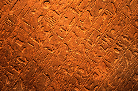 hieroglyphs: Abstract background with Egyptian hieroglyphs