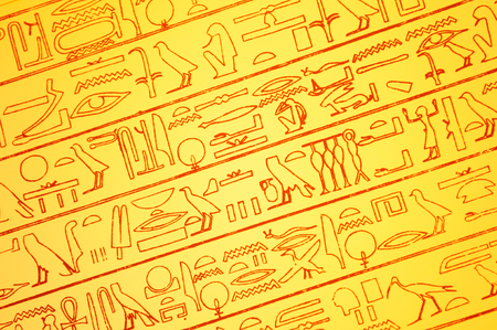 encoded: Abstract background with Egyptian hieroglyphs