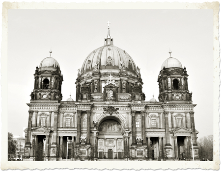 old postcard: Old postcard from Berlin depicting the Berliner Dom