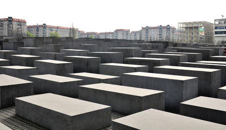 holocaust: Architecture of the Holocaust museum in Berlin, Germany Editorial