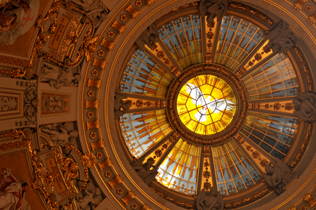 dom: Interior of the Berlin Cathedral in Germany Editorial