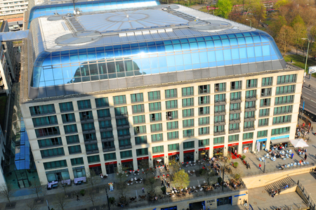 blu: Aerial view of Radisson Blu hotel as seen from the Berlin cathedral dome Editorial