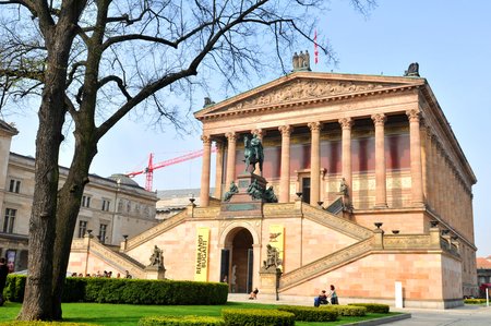 alte: View of the Alte Nationalgalerie in Berlin, Germany