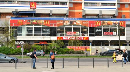 fast food restaurant: McDonalds fast food restaurant in Berlin, Germany