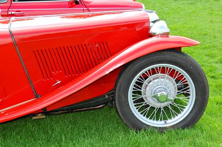 vintage car: Detail of a vintage car