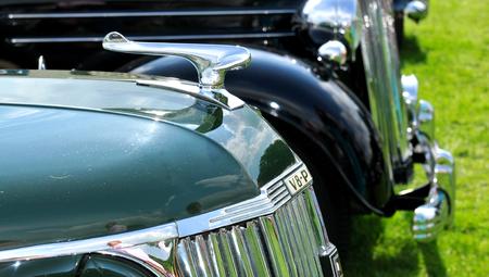 v8: NOTTINGHAM, UK. JUNE 1, 2014: Pilot v8 retro car displayed at the vintage car fair in Nottingham, England.