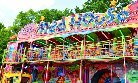 madhouse: NOTTINGHAM, UK. JUNE 1, 2014: Amusement park in Nottingham, England Editorial