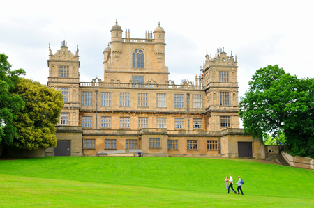 elizabethan: NOTTINGHAM, UK. JUNE 1, 2014: Beautiful architecture of Wollaton Hall, an Elizabethan country house. Editorial