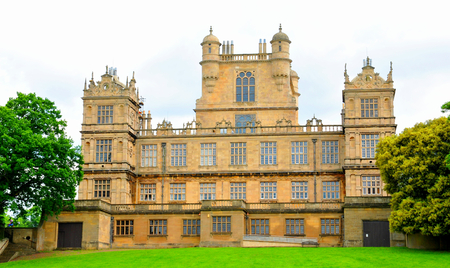 great hall: NOTTINGHAM, UK. JUNE 1, 2014: Beautiful architecture of Wollaton Hall, an Elizabethan country house. Editorial