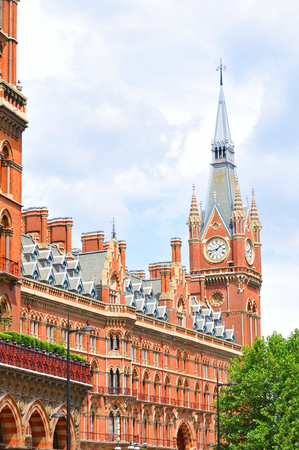pancras: LONDON, UK. JULY 9, 2014: Architecture St. Pancras Renaissance hotel in London Editorial