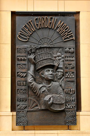 covent: LONDON, UK. JULY 9, 2014: Architectural detail of the Covent Garden market in central London