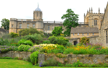 oxford: OXFORD, UK - JULY 9, 2014: Panorama of English castle isolated on white Oxford, UK Editorial