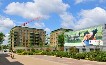 lettings: LONDON, UK. JULY 9, 2014: New development property in Kidbrooke village in South-East London