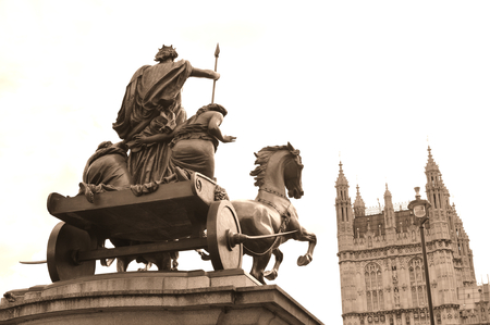 horse and carriage: Architectural detail of equestrian architecture in central London