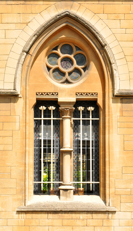 architectural  detail: Architectural detail of Gothic window Stock Photo