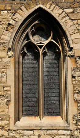 castello medievale: Dettaglio architettonico della finestra gotica