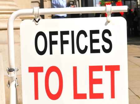 let: Offices to let sign on the street