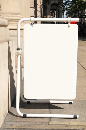 lettings: Blank board advert on the street