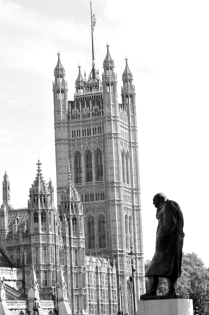 churchill: Statue depicting Winston Churchill