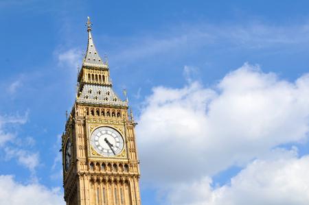 big ben tower: Close up of Big Ben tower in London, UK Stock Photo