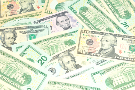 refunds: US dollars background