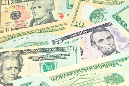 refunds: US dollars Stock Photo