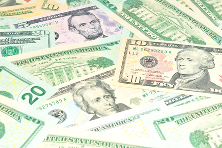 refunds: US dollars abstract background