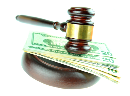 money matters: Gavel and American dolalrs